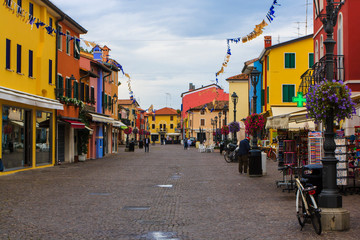 The historical center of Caorle, Italy