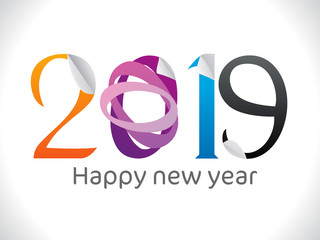 abstract artistic creative sticker new year text