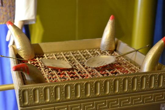 golden incense altar, Model of Tabernacle, tent of meeting in Timna Park, Negev desert, Eilat, Israel