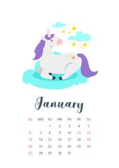 2019 year monthly calendar
