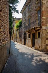 Verona, Italy, September 15, 2018 - Narrow street of Verona on a sunny day