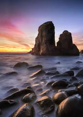 Sunset at peeble beach