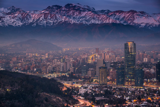Cordillera de Los Andes en Santiago