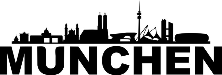 Fototapete - Skyline Munich Cityscape