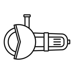 Angle grinder tool icon. Outline angle grinder tool vector icon for web design isolated on white background