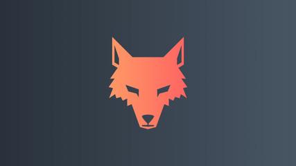 Wolf Hintergrund Wallpaper Logo