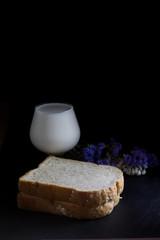 Bread with fresh milk
