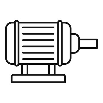 Motor pump irrigation icon. Outline motor pump irrigation vector icon for web design isolated on white background
