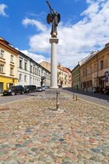 Engel von Užupis in Vilnius, Litauen