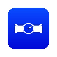 Instrument measures the pressure in the pipe icon digital blue for any design isolated on white vector illustration