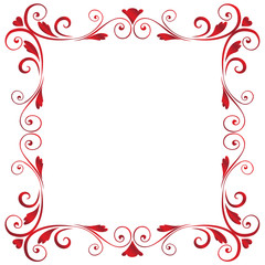 Valentine-Red Spiral Frame