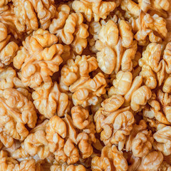 Pieces of the walnuts.