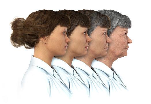 Female Age Progression - 20 to 80