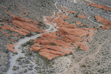 Red Rock Canyon - Erosion on Landform