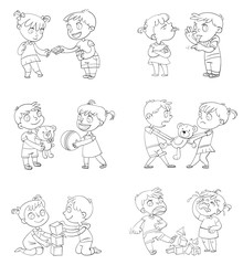 Good and bad behavior of a child