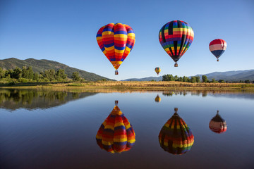 Foto op Plexiglas Ballon hot air balloons