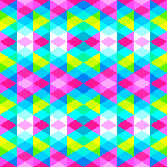 Geometrical seamless pattern of triangles