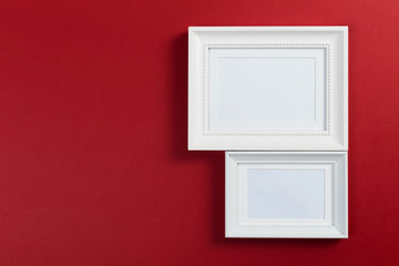 frames on red background
