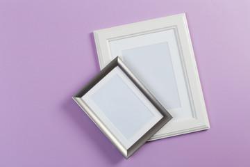 frames on pink and violet background