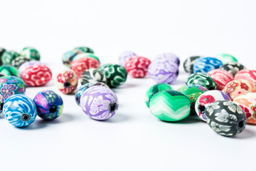 Colored flower beads / clothing industry accessories background material