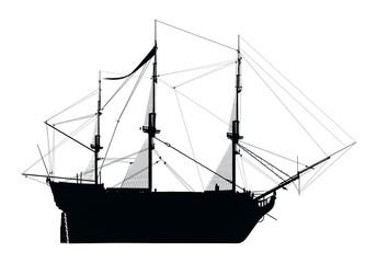 Silhouette der HMS Victory