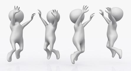 Jubelnde 3D Figuren