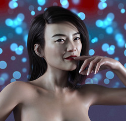3D rendering of a woman