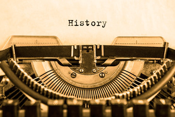 the story is printed on a piece of paper on a vintage typewriter. writer. journalist.