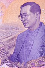 Bhumibol Adulyadej - Rama IX, a portrait from Thai money
