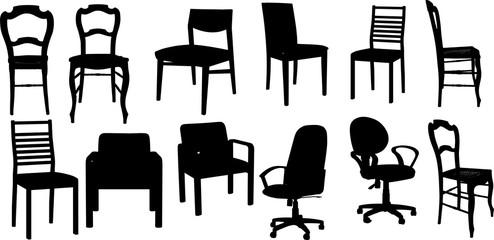椅子のシルエット