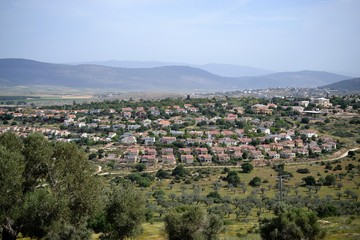 Jesus Trail - hiking through Galilee countryside in spring time, from Nazareth to Sea of Galilee, Capernaum, ISRAEL