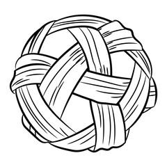 Sepak takraw hand drawn vector illustration
