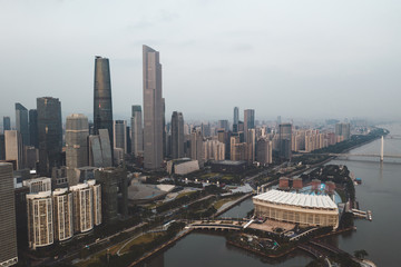 cityscape in the guangzhou china