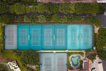 tennis court in the park