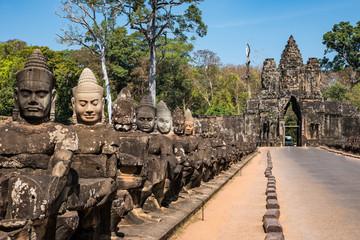 Foto op Plexiglas Asia land Kambodscha - Angkor - Südtor von Angkor Thom