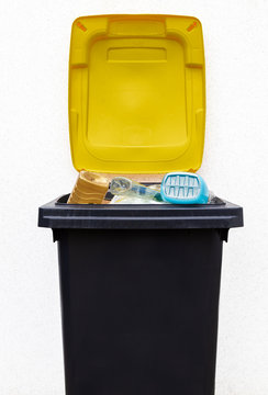 Mülltonne für Plastik