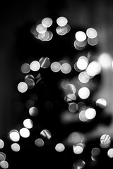 bokeh effects in black and white tones close-up