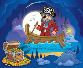 Poster Piraten Pirate in boat topic image 3