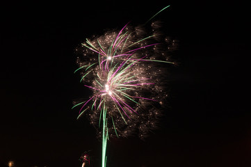 Fireworks for happy New Year.