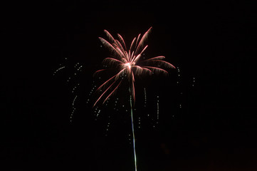 Newyear beautiful fireworks on black background.