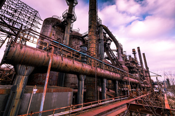 The old Bethlehem Steel factory closed since 1998 is a piece of industrial history