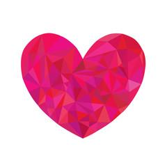 cuore vector diamante rosso giorno di San Valentino