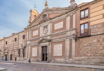 Madrid, Spain. Facade of the Monastery of Decalzas Reales, 16th century