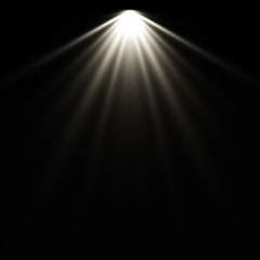 Isolated spotlight effect on black background. Clean photographer studio. Light from the top clipart.