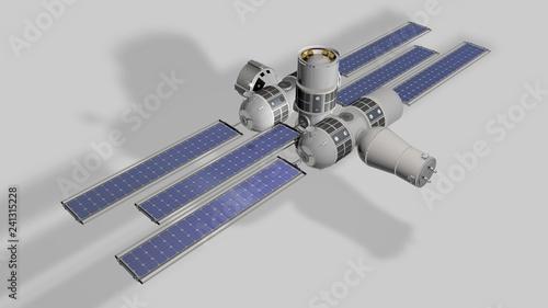 Modello 3D della futura stazione spaziale Aurora  Orion Span
