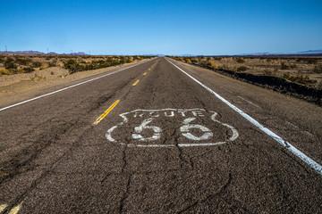 In de dag Route 66 Utah, Nevada, California (USA)