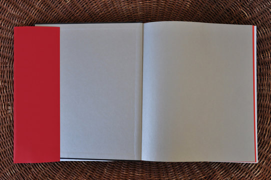 blank book pages paper background and dust jacket flaps
