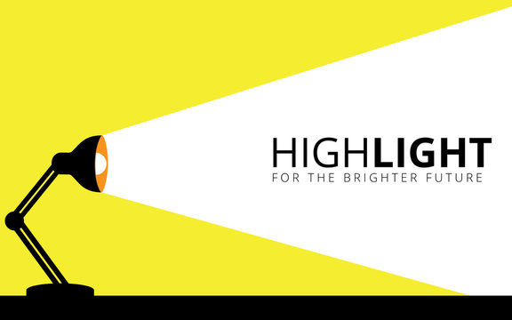 desk lamp illuminates its light to the wall vector illustration design