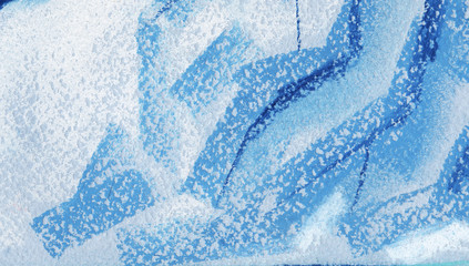 Abstract huge ice texture background. Painted with pastel on paper illustration