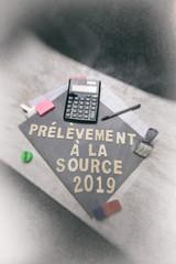 impôt,prélèvement à la source